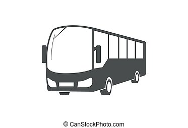 Vector city bus, public transport symbol design.