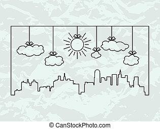 vector city contours