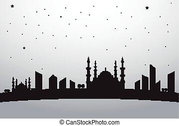 Vector City Landscape Istanbul Turk