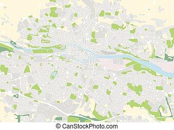 vector city map of Cork, Ireland