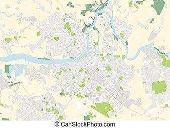 vector city map of Limerick, Ireland