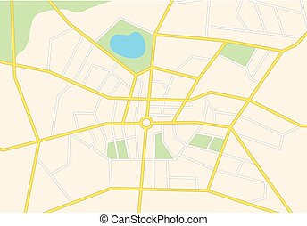 vector city streets on the map