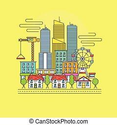 vector, cityscape