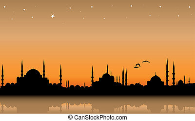 Istanbul - vector cityscape of Istanbul