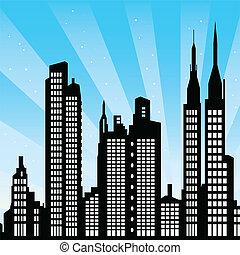 New York - vector cityscape of New York