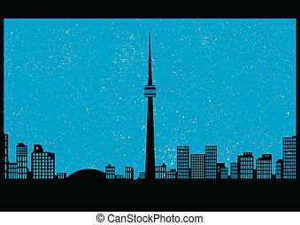 Toronto - vector cityscape of Toronto