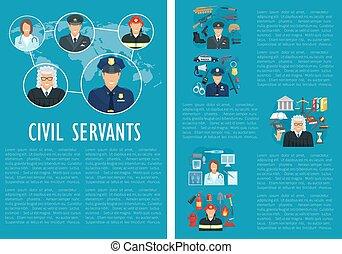 Vector civil servants judge police aviation poster - Civil ...