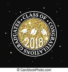 Vector Class of 2018 badge.