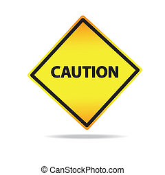 Vector Classic Caution warning sign.