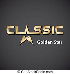 vector classic golden star