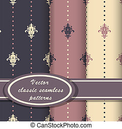 Vector classic seamess patterns
