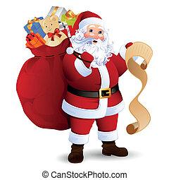 vector, claus, kerstman