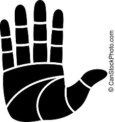 vector clean hand imprint