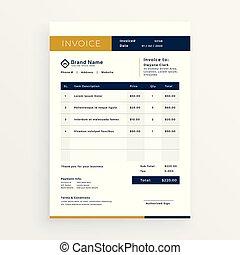 vector clean invoice template design