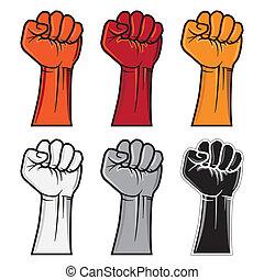 fist emblem - vector clenched fist emblem