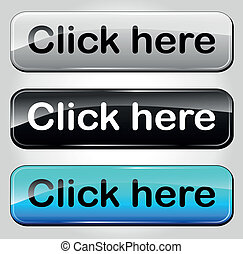 Vector click here buttons - Vector illustration of click...