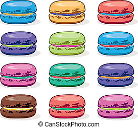 vector clipart collection of colorful macarons