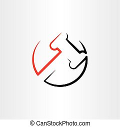 vector, clipart, martillo, logotipo, icono, juez