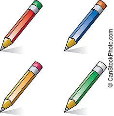 vector clipart of pencils