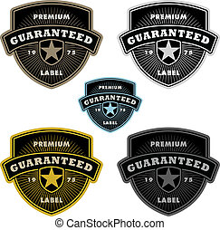 Vector Clipart Shield Badge Set