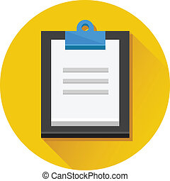 Vector Clipboard and Document Icon