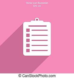 Vector clipboard web icon. - Vector clipboard web icon...