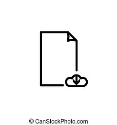 Vector cload Upload File document Icon