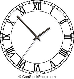 clock dial with roman numbers - vector clock dial with roman...