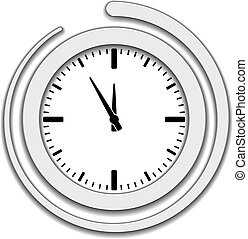 Vector clock face icon