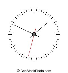 Vector clock face isolated on white background