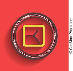 Vector clock icon flat modern design