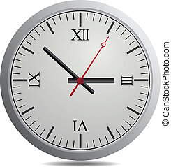 Vector Clock Isolate On White background