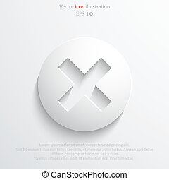 Vector close web flat icon