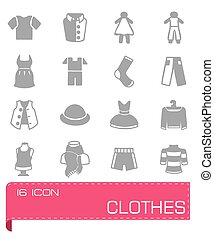 Vector Clothes icon set