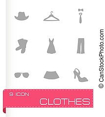 Vector clothes icons set