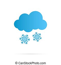 Vector Cloud and Snow Icon