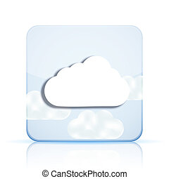 Vector cloud app icon on white background. Eps 10