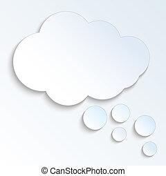 Vector cloud bubble speech. EPS10