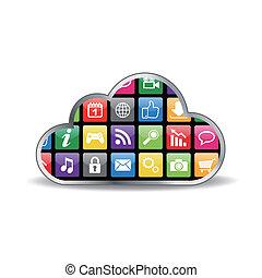 vector cloud computing concept