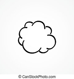 Vector cloud hand-drawn