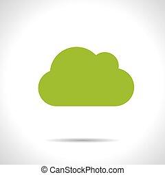 Vector cloud icon. Eps10