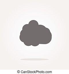 vector cloud icon, web button
