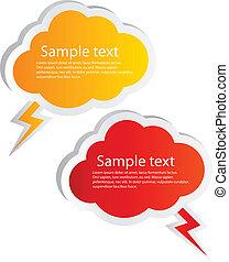 Vector cloud labels