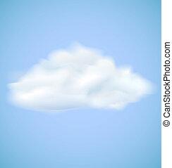 Vector cloud on blue sky