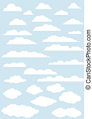 vector clouds collection.