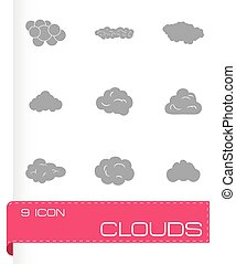 Vector clouds icons set