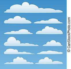 vector clouds in the sky - vector design set of clouds in...