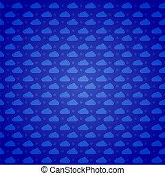 Vector clouds pattern background. Eps10 illustration