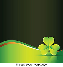 vector clover leaf with space for your text