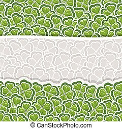 Vector Clover Pattern for St Patrick's Day